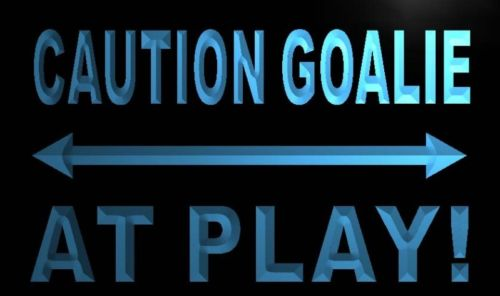Caution Goalie At Play Neon Light Sign